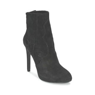 Authentique Chaussures ASH Boo Noir Bottines Femme En Soldes