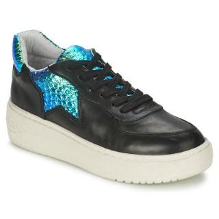 Authentique Chaussures ASH Fool Noir / Bleu Irisé Basket Basses Femme En Soldes