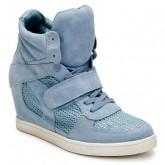 Boutique Officielle Chaussures ASH Cool Bleu Basket Montante Femme Pas Cher France
