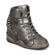 Boutique Officielle Chaussures ASH Freak Métallisé Basket Montante Femme Pas Cher France