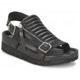 Boutique Officielle Chaussures ASH Touch Noir Sandale Femme Pas Cher France