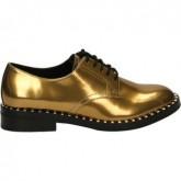 Boutique de Chaussures ASH Wonder-006 Doré Richelieu Femme Pas Cher Prix