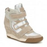 Chaussures ASH Alex Bis Argent / Beige Basket Montante Femme Pas Cher Réduction De 50%