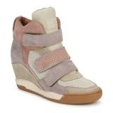 Chaussures ASH Alex Rose / Violet / Taupe Basket Montante Femme Vente En Ligne