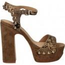 Chaussures ASH Bacci Beige Sandale Femme Soldes Lyon