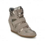 Chaussures ASH Bea Beige/Or Basket Montante Femme Pas Chère