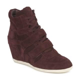 Chaussures ASH Bea Bis Prune Basket Montante Femme Soldes Marseille
