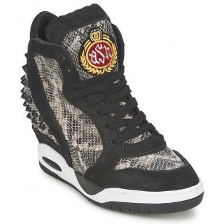 d3018d6fa81fc4 Chaussures ASH Buzz Noir/Python Basket Montante Femme Soldes Marseille