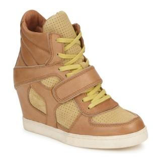 Chaussures ASH Coca Marron / Jaune Basket Montante Femme En Promotion