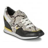 Chaussures ASH Detox Noir / Jaune / Python Basket Basses Femme à Super Prix