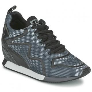 Chaussures ASH Domino Bleu Camouflage Basket Basses Femme En Promotion