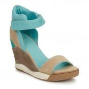 Chaussures ASH Eloise Marron / Bleu Sandale Femme Remise Paris en ligne