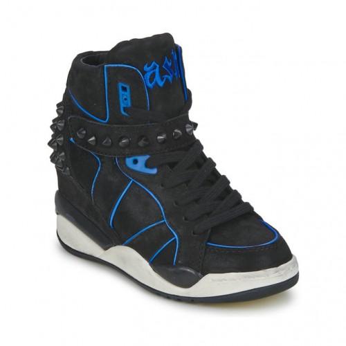 b697be137cfe43 Chaussures ASH Free Noir/Bleu Basket Montante Femme Vendre à Bas Prix