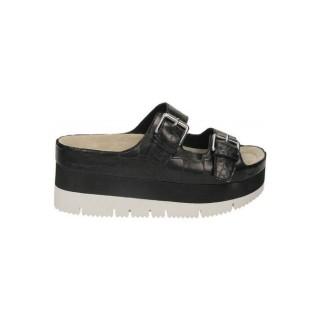 Chaussures ASH Gloss Crococalf Noir Richelieu Femme Soldes Promo En Ligne