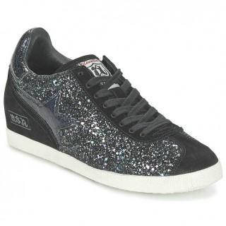 Chaussures ASH Guepard Noir Métallisé Basket Basses Femme Boutique En Ligne