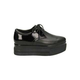 Chaussures ASH Katia Bis Nappa Wax Noir Derbies Femme Remise Paris en ligne