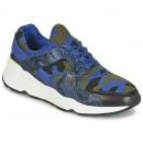 Chaussures ASH Matrix Bleu Camouflage Basket Basses Femme Code Promo France