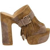Collection Chaussures ASH Byblos Beige Mules Femme Rabais en ligne