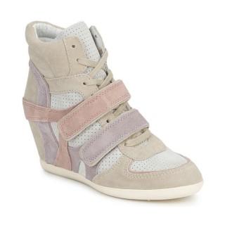 FR Chaussures ASH Bixi Rose / Violet / Gris Basket Montante Femme Achat à Prix Bas