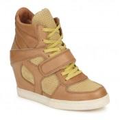 France Chaussures ASH Coca Marron / Jaune Basket Montante Femme Vendre En Gros