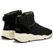 Magasin Chaussures ASH Miko Noir - Bottines Femme Noir Basket Montante Soldes Paris
