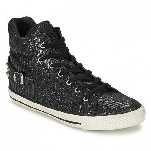 Femme Soldes Chaussures Paris Vertigo Magasin Ash Noir Basket Montante rCtsxhdBQo