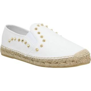 Magasin Chaussures ASH Zest Cuir Femme Blanc Blanc Espadrilles Femme Soldes Paris