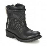 Meilleure Qualité Chaussures ASH Texas Noir Boots Femme Pas Cher Marseille