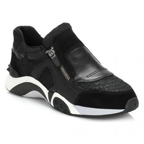Nouvelle Side Cuir Femme Suede Zip Ash Chaussures Hop Noir And R4L5Aj3q