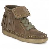 Nouvelle Chaussures ASH Zapping Marron Basket Montante Femme Paris Vente En Ligne