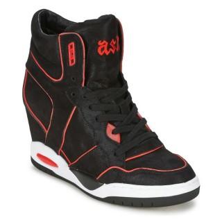 Nouvelle Collection Chaussures ASH Best Noir/Corail Basket Montante Femme à Prix Bas