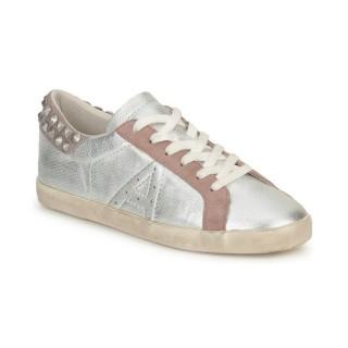 Nouvelle Collection Chaussures ASH Spike Bis Argent / Rose / Blanc Basket Basses Femme à Prix Bas