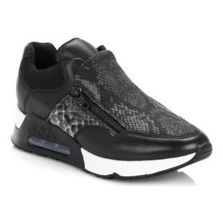 Nouvelles Chaussures ASH Femme Noir Lenny Bis Cuir Slip On Trainers ASH_35 Basket Basses Femme Prix En Gros
