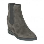Officiel Chaussures ASH Gong Gris Bottines Femme Grosses Soldes