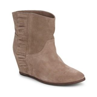 Officiel Chaussures ASH Scandal Taupe Bottines Femme Pas Cher