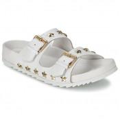 Officiel Chaussures ASH United Blanc Mules Femme Pas Cher