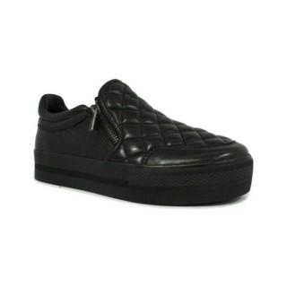 Original Chaussures ASH Jodie - Rembourrage Doble Semelle Noir Basket Basses Femme Pas Cher en Promo