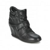 Prix Chaussures ASH Bowie Noir Basket Montante Femme Promotions En Ligne