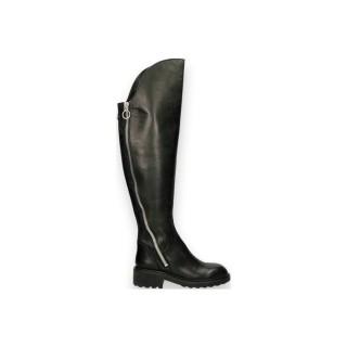 Promotions Chaussures ASH Box Calf Noir Botte Femme France Métropolitaine