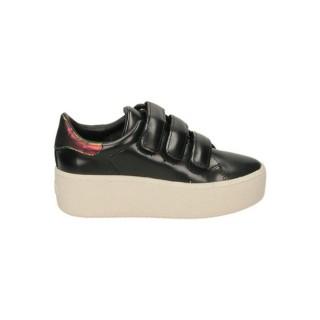 Remise Chaussures ASH Cool Polish Calf Le Noir Basket Basses Femme En Ligne