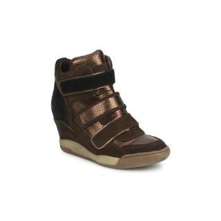 Site Officiel Chaussures ASH Alex Bis Marron Basket Montante Femme la Vente à Bas Prix