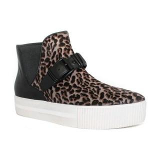Site Officiel Chaussures ASH Killer - Tobillero Doble Semelle Léopard Basket Montante Femme la Vente à Bas Prix