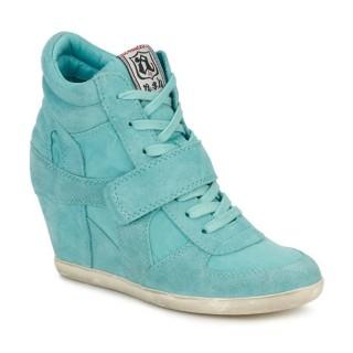 Vente Privee Chaussures ASH Bowie Turquoise Basket Montante Femme à Petit Prix
