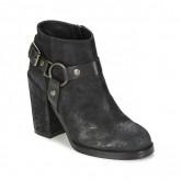 Vente Privée Chaussures ASH Falcon Noir Bottines Femme à Petits Prix